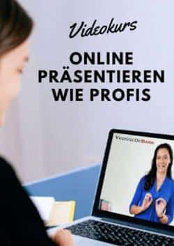 Videokurs Online Präsentieren wie Profis mit Yvonne de Bark